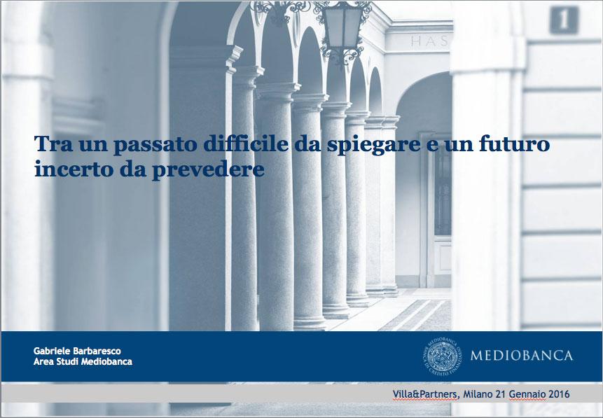 Overview sullo scenario macroeconomico 2016